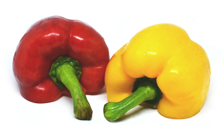 Bell pepper on white background isolated