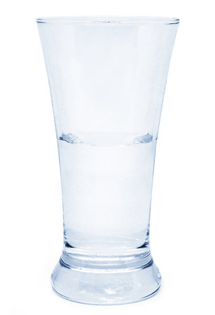 Glass on white background isolated Banco de Imagens