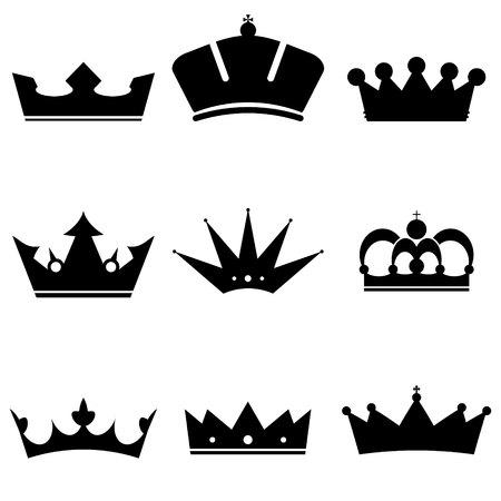 corona reina: Corona conjunto de iconos