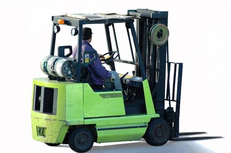 Forklift with operator