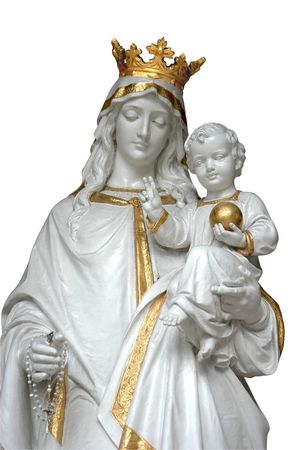 イエスと聖母マリア (マリア) 写真素材