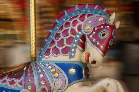 A horse ride at a carnival photo