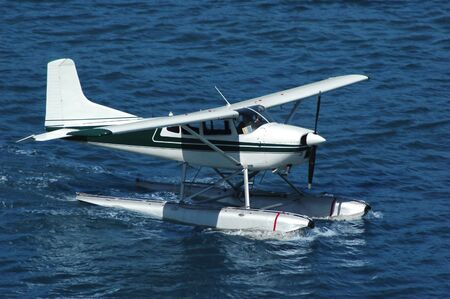 A seaplane ready for take off
