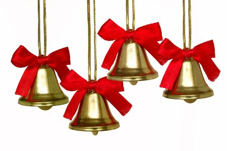 Christmas bells quartet Stock Photo