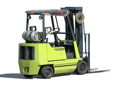 moving crate: A forklift (isolated)