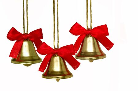 Three christmas bells Stock Photo