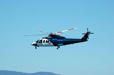 A passenger helicopter Stock Photo