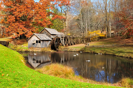 Mabry Mill on Blue Ridge Parkway, Virginia USA 版權商用圖片