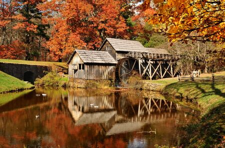 Mabry Mill on Blue Ridge Parkway, Virginia USA Stock Photo