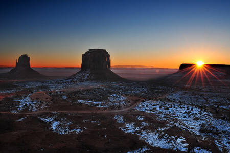 Monument Valley Tribal Park in the Arizona-Utah border, U.S.A. Stock Photo