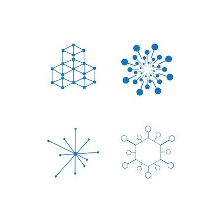 Blockchain icon set Ilustracja