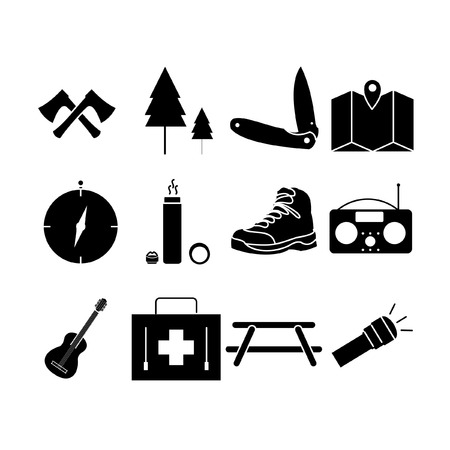 Camping Icon Set II Glyph