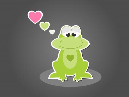 froggy: Cute green frog in love