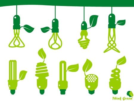 消費: エコロジー、エネルギー、環境、グリーン成長し、成長、アイコン  イラスト・ベクター素材