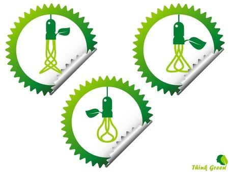 ecology, energy, environment, green grow, growth, icon Vector