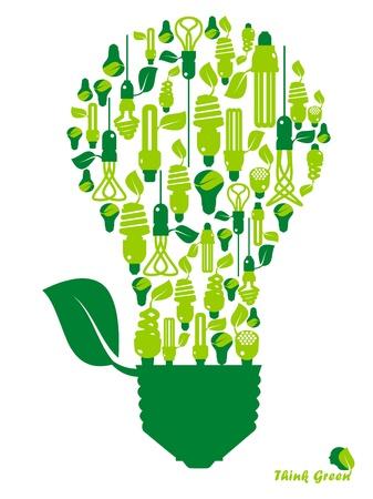 Ecología, energía, medio ambiente, verde crecer, el crecimiento, el icono Foto de archivo - 11217244