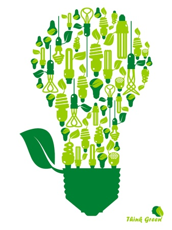 ecology, energy, environment, green grow, growth, icon Stock Vector - 11217244