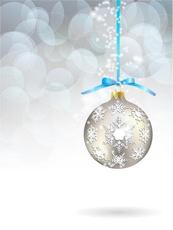 snowdrifts: sfondo, palla, baubles Vettoriali