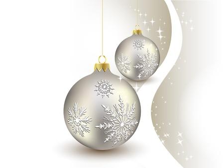 achtergrond, bal, kerstballen