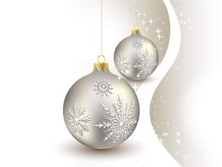 happy new year text: background, ball, baubles