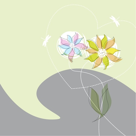 dekor: flower, garden, graphic