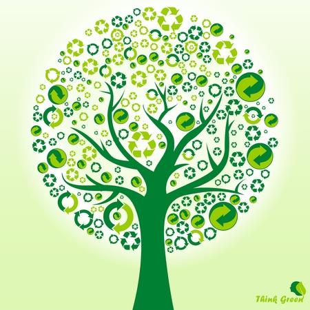 logo recyclage: recycler, de renouveler, de réutilisation, la rotation