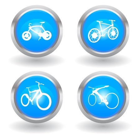 logo marketing: love modern bike icon Illustration