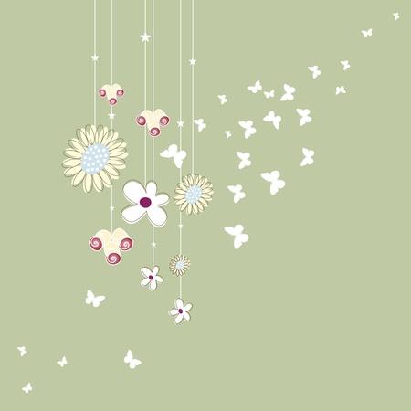 flower, garden, graphic Stock Vector - 11582309