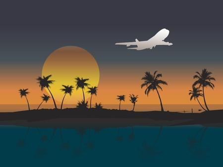 air, aircraft, airplane Vector