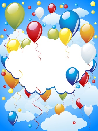 colored balloons: Balloon celebration Illustration