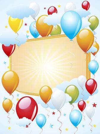 Balloon celebration Illustration