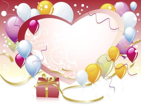 colored balloons: Balloon celebration Illustration