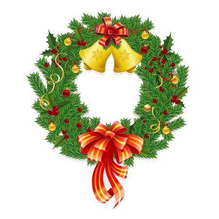 Christmas Wreath Stock Vector - 11583201
