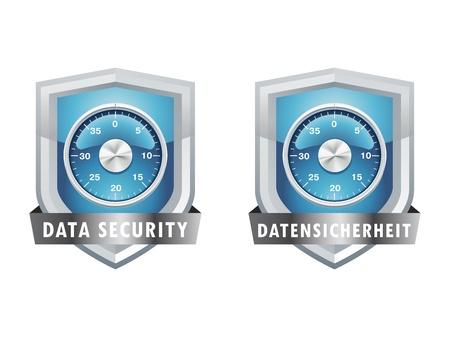 encrypt: Abschliessen, achievement,protection, purchase, safe, safety Illustration