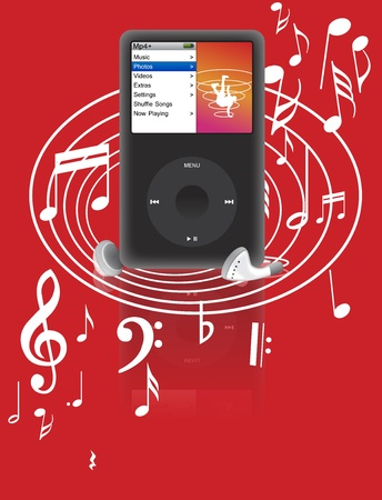 mp3 player: musical, note