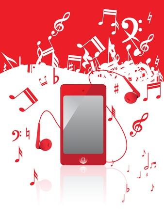 heart tone: nota musical, Vectores