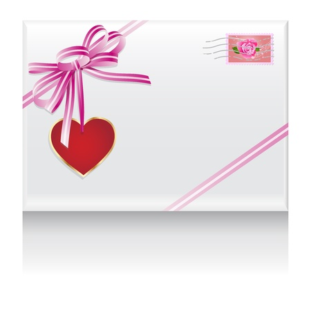 lovers mail heart in love  Vector