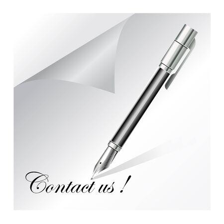 contact, contact us Stock Vector - 11583257