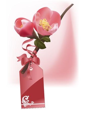 flower, graphic, pink, plant, plum Vector