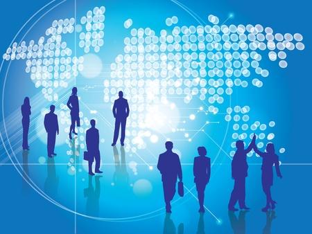 work worker workforce world: Backgrounds vector Business People Workforce