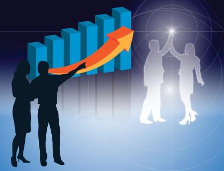 Achtergronden vector Bedrijfs Mensen werknemers Vector Illustratie