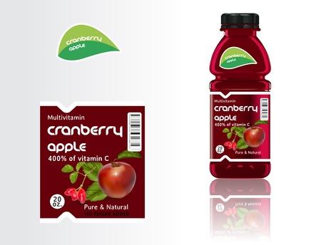jugo verde: Juego de botellas, el jugo y las etiquetas.