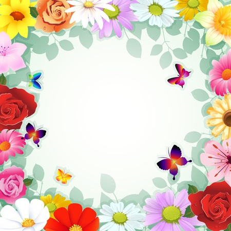 Romantic vector background with flower Vector