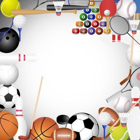 buiten sporten: Kader van de sport-collectie Stock Illustratie