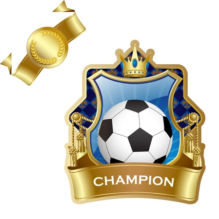 Emblem of sport champion soccer Vector