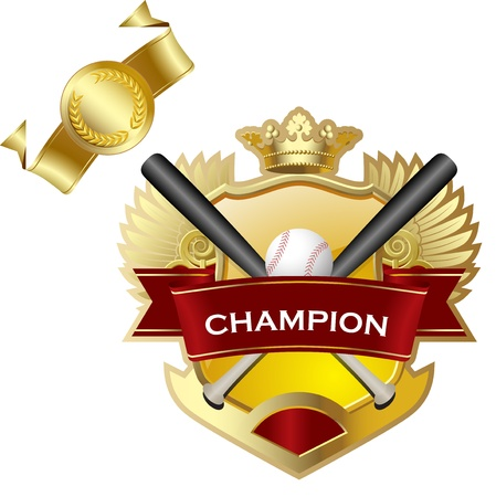Emblem of sport champion Baseball Vector