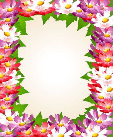 vector background with flower Vector