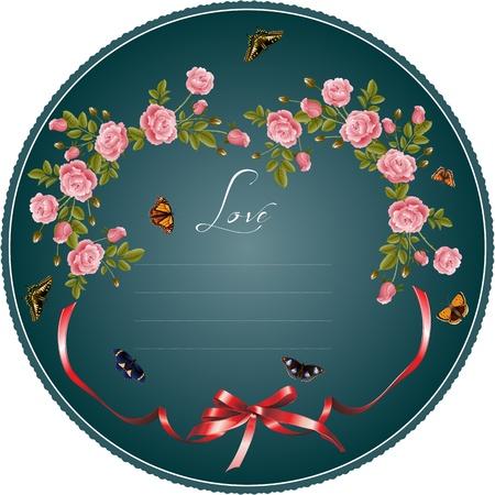 mazzo di fiori: Vettore sfondo romantico con fiori