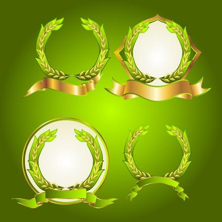 spikes: Emblema de arroz de Tailandia, el arroz blanco tailand�s colecci�n