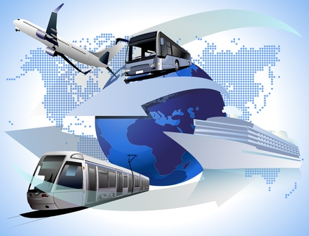 wide: World Transport Illustration